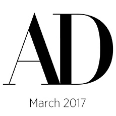 Architectural Digest, March, 2017
