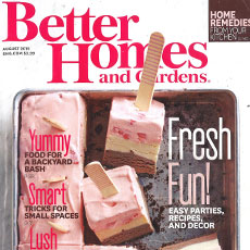 Better Homes & Gardens Magazine August 2015