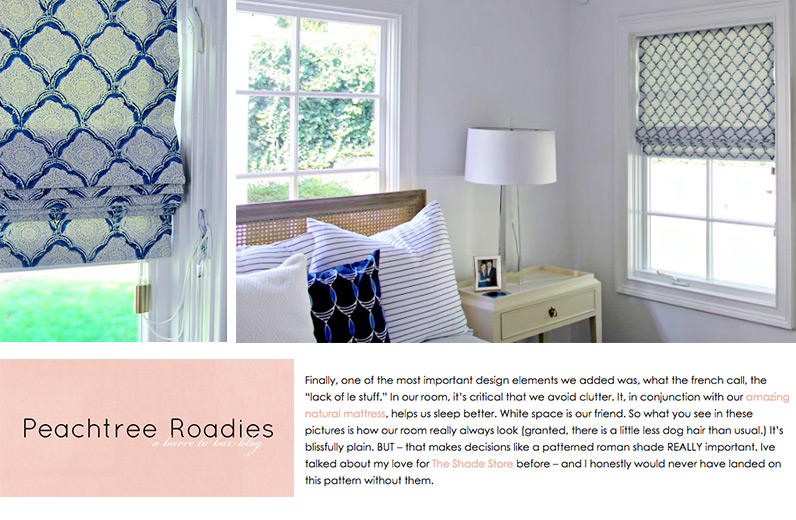 Peachtree Roadies, Blue and White Master Bedroom