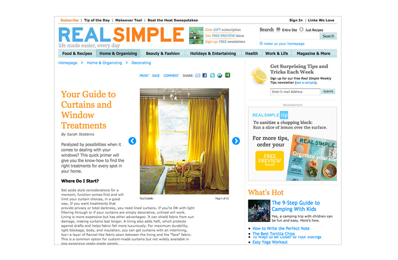 Real Simple May 2011