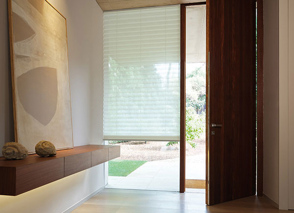 """2""""Pleated Shades, Material: Napoli, Color: Natural"""