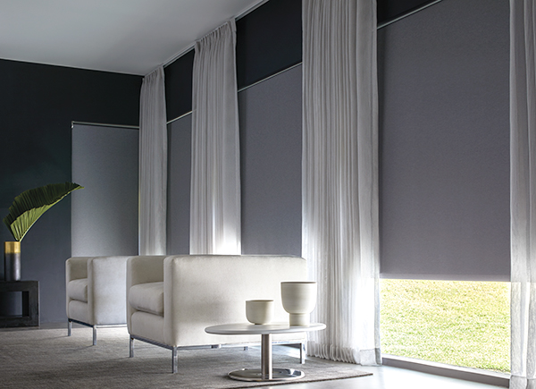 Blackout Roller Shades, Supernova II, Noir