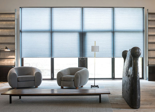 Cellular Shades | 3/8 Double Cell LF | Deep Silver