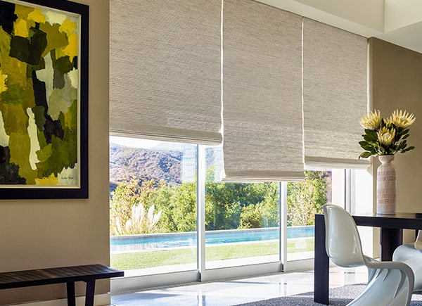 Woven Wood Dining Room Shades