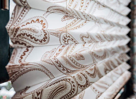 Pleated Shades | Paisley Pleat | Beige