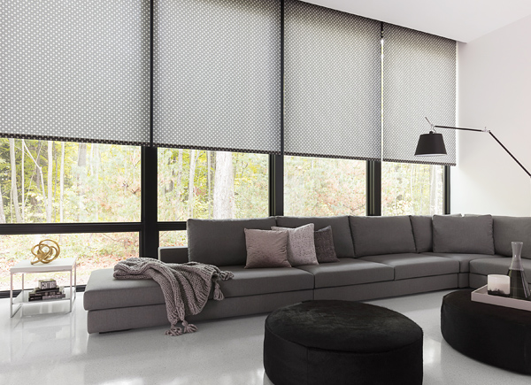 Roller shades and roller blinds order free swatches for Motorized roller shades price