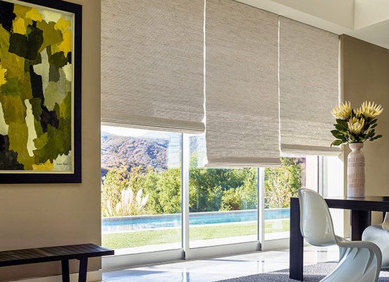 woven wood shades on sale