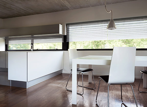 pleated shades for the kitchen