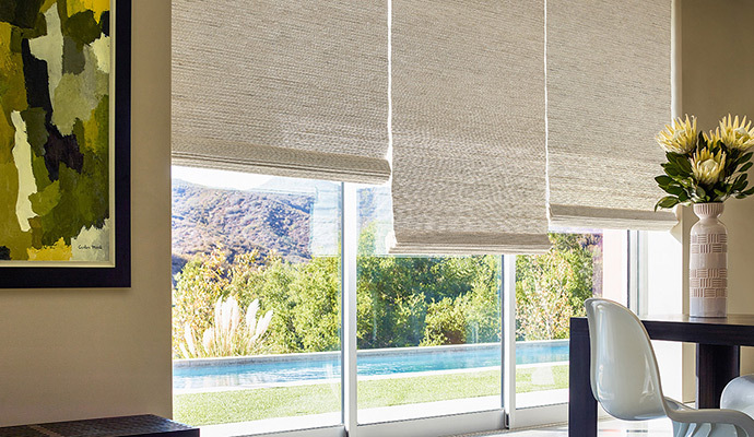 popular waterfall woven wood shades