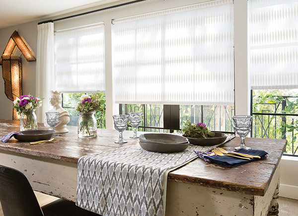 Roller Shades For The Dining Room