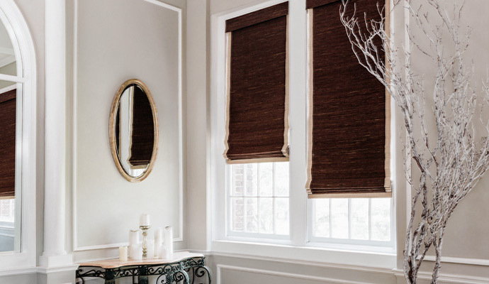 blackout woven wood shades