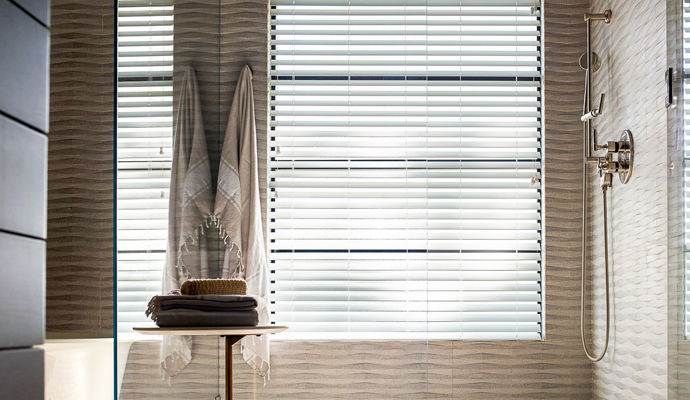 kitchen faux wood blinds
