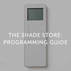 The Shade Store Programming Guide