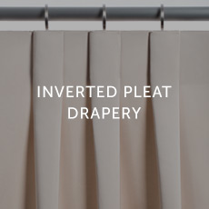 Installation For Inverted Pleat Drapery