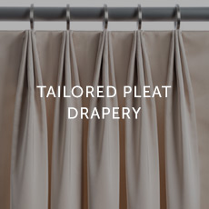 Installation For Tailored Pleat Drapery