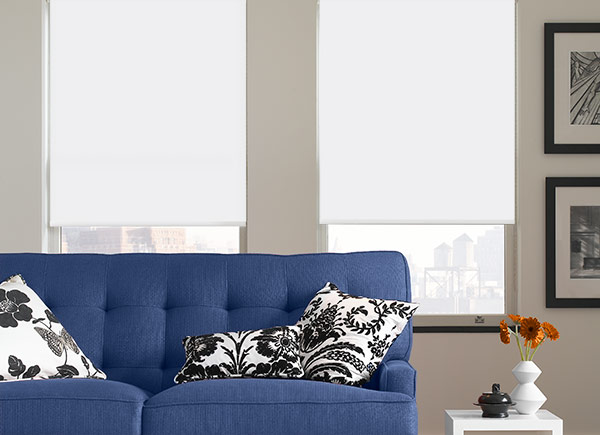 Econo Blackout Roller Shades | White