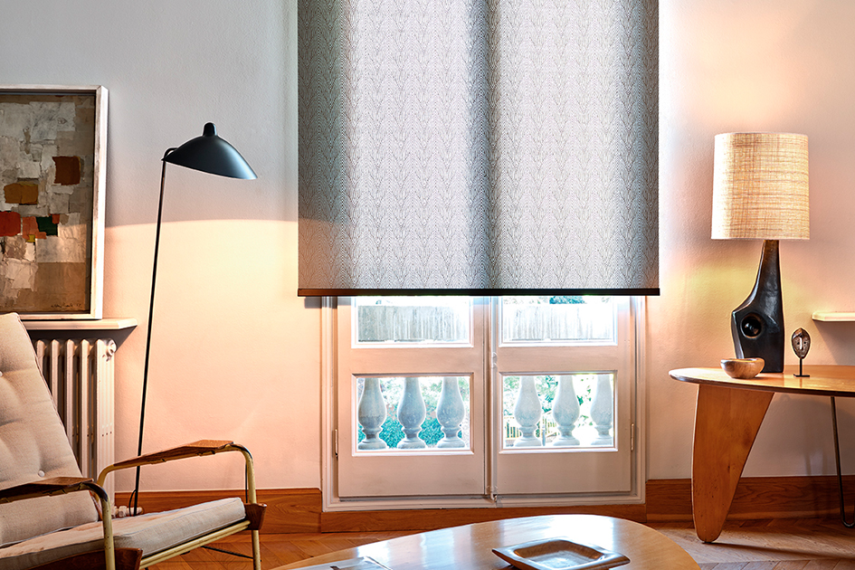 French Door window treatments with roller shades