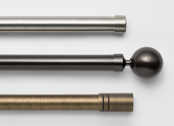 Drapery Hardware | Steel Hardware Collection