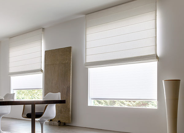 Cascade Roman Shades | Cotton | White