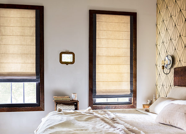 Designer roman shades and blinds the shade store for Cost of blinds for 3 bedroom house
