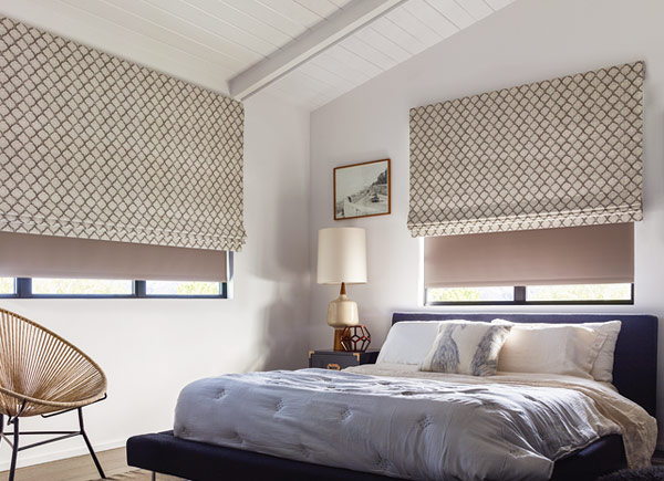 Designer Roman Shades And Blinds The Shade Store Simple Roman Blinds Bedroom Collection