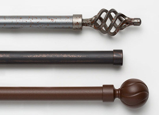 Drapery Hardware | Wrought Iron Hardware Collection