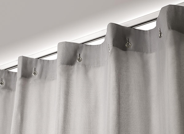 Cubicle Drapery | Basket Sheer | Steel