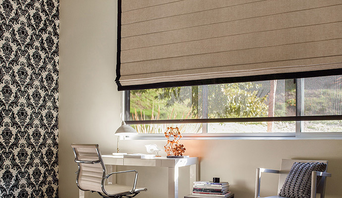 Roman shades roman blinds the shade store for Best blinds for casement windows